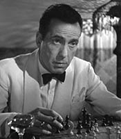 Actor Humphrey Bogart in the movie Casablanca