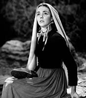 Actor Jennifer Jones in the movie The Song Of Bernadette