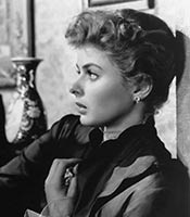 Actor Ingrid Bergman in the movie Gaslight