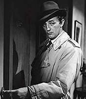 Actor Robert Mitchum in the movie Out of the Past