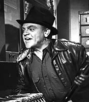Actor James Cagney in the movie White Heat