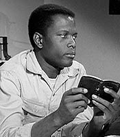 Actor Sidney Poitier in the movie Lilies of the Field