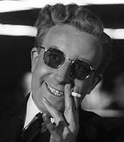 Actor Peter Sellers in the movie Dr. Strangelove