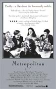 Poster for the movie Metropolitan