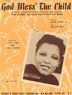 God Bless The Child - sheet music cover