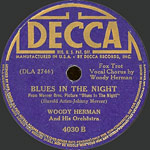 Blues in the Night - decca record lable
