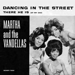 "single record cover for ""Dancing In The Street"" by Martha & the Vandellas"