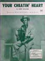 Hank Williams - Your Cheatin' Heart sheet music cover
