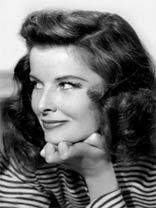 Comedic actress Katharine Hepburn