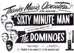 Dominoes - Sixty Minute Man - printed item