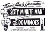 Dominoes - Sixty Minute Man - printed item