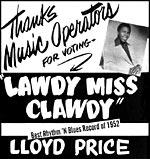 Lawdy Miss Clawdy - Ad