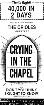 Crying In The Chapel - Ad