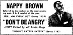Nappy Brown - Don't Be Angry - Ad