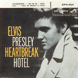 Elvis Presley - Heartbreak Hotel single sleve