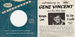 Be-Bop-A-Lula - Gene Vincent single sleve