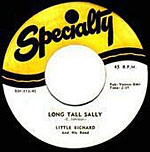 Long Tall Sally by Little Richard vinyl disc lable