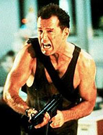 Scene from the action movie Die Hard