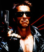 Scene from the action movie Terminator