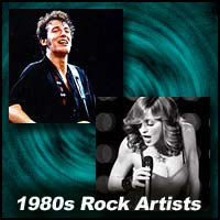 1980s Rock Artists showing Bruce Springsteen and Madonna