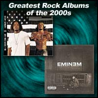 album covers Stankonia and The Marshall Mathers LP