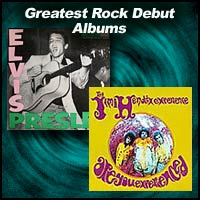 album covers Elvis Presley and Are You Experienced? by Jimi Hendrix Experience