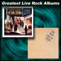 Live At The Apollo by James Brown and Live At Leeds the Who album covers