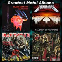 Paranoid and Master of Puppets album covers