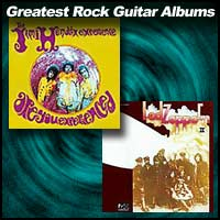 album covers Are You Experienced and Led Zeppelin II