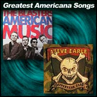 Record album covers for The Blasters and Steve Earle
