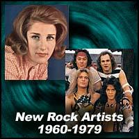 New Rock Artists 1960-1979