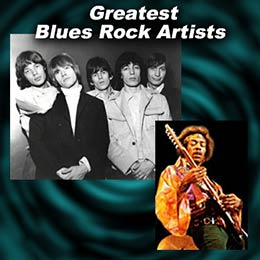 blues rock artists The Rolling Stones and Jimi Hendrix