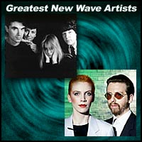 New Wave music artists Talking Heads and Eurythmics
