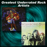 Album covers for Captain Beyond and Wishbone Ash