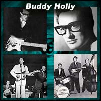 Four pictures of Buddy Holly