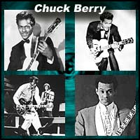 Four pictures of Chuck Berry