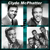 Four pictures of singer Clyde McPhatter