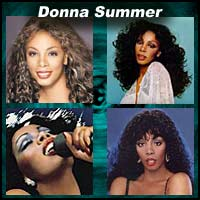 Four pictures of Donna Summer