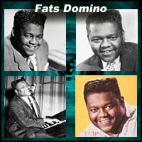 Four pictures of Fats Domino