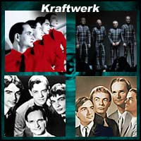 Four Kraftwerk band images