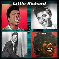 Four pictures of Little Richard