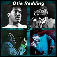 Four pictures of Otis Redding