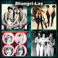 Four pictures of the music group Shangri-Las