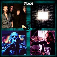 Four pictures of the rock band Tool