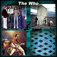 Four pictures to do with the British rock band The Who