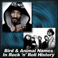 Bird and Animal Names In Rock 'n' Roll History