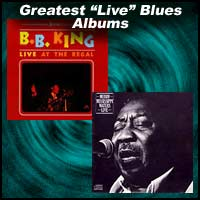 B.B. King and Muddy Waters live album covers