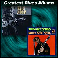 Robert Johnson and Magic Sam album covers