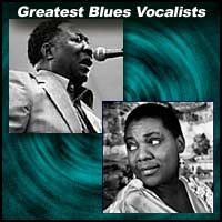 Blues music vocalists Muddy Waters and Bessie Smith