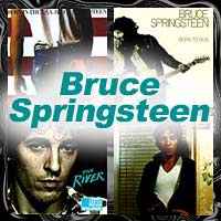 Four Bruce Springsteen album covers